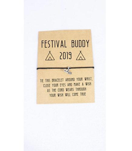 Festival Wish Bracelet, Best Friend, Personalised