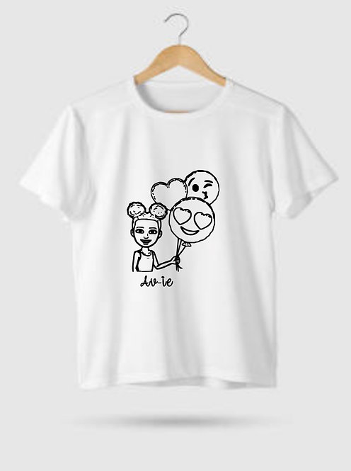 Kids Personalised, Cartoon T-Shirt, Riva Gifts
