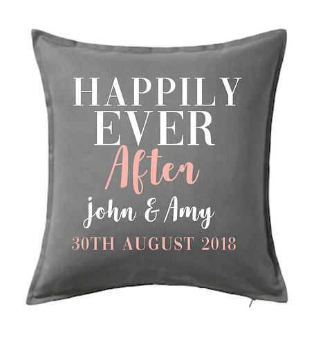 Happily Ever After Cushion Cover, Personalised