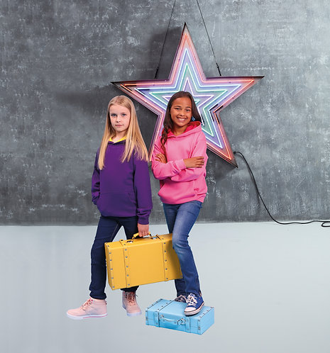 Unisex Kids Varsity Hoodies, Colour Hood Personalised, J003j