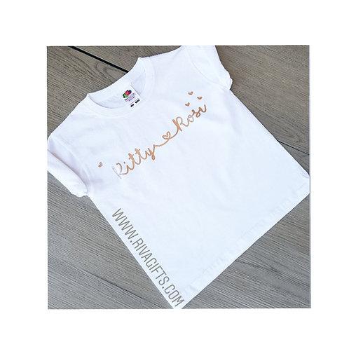 Kids Name T shirts, personalised