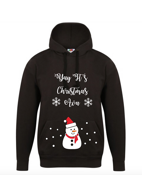 Christmas Hoodie, Personalised, snowman, family gift, personalised gifts Weston super mare