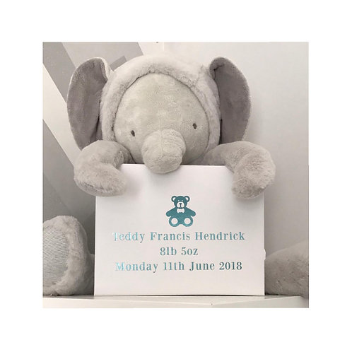 New Baby Memory Box, Personalised, A5, A4 or A3