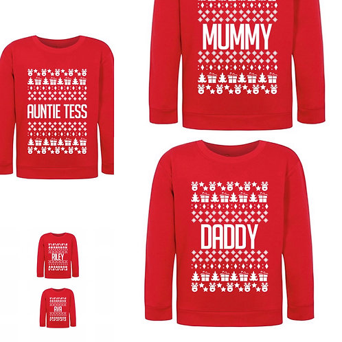 Luxury Christmas Jumper with name or quote, Personalised, personalised jumper Weston super mare, riva gifts