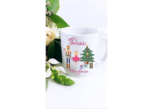 Nutcracker Ceramic Personalised Mug 6oz