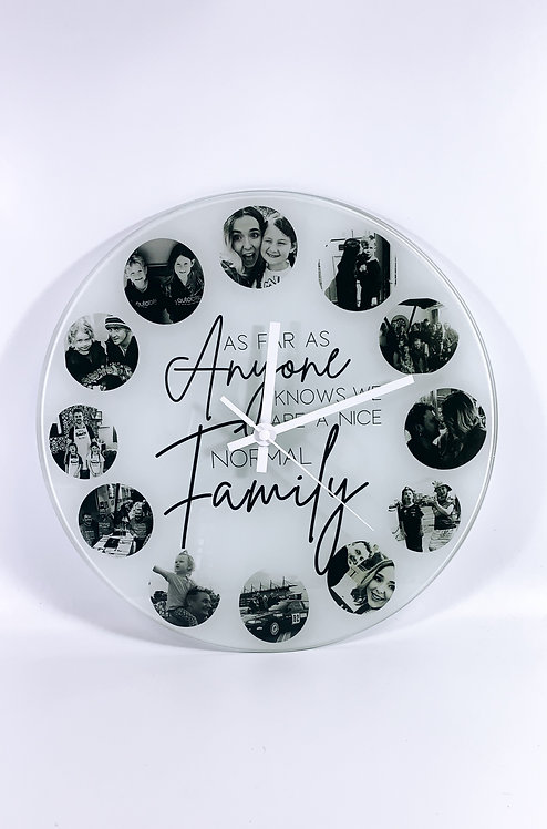 Family Clock, Personalised with Photos
