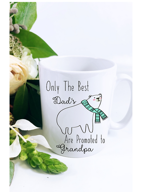 Promoted to Grandpa Mug, Grandad, Polar Bear