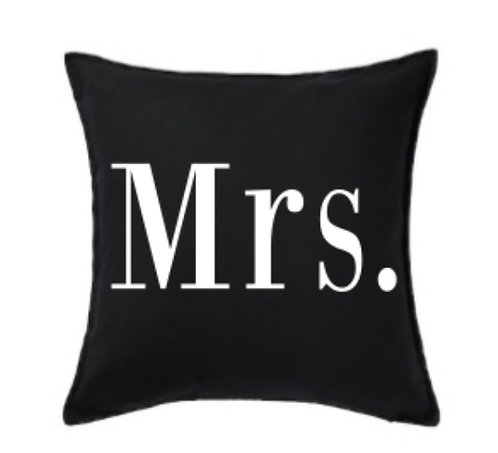 Personalised Mrs Cushion Cover