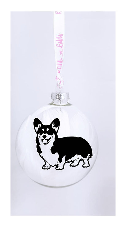 Corgi Personalised Bauble, Pet Owner Gifts