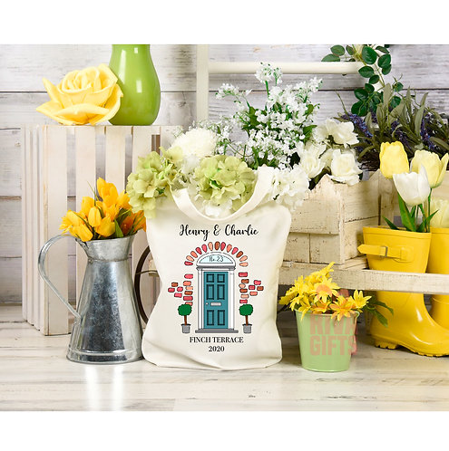 Personalised Front Door Tote Bag , Personalised New Home