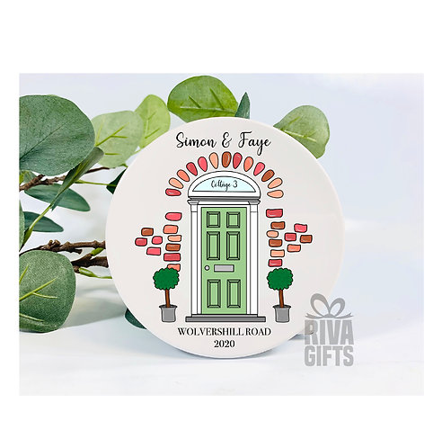 Personalised Front Door Coaster , Personalised New Home