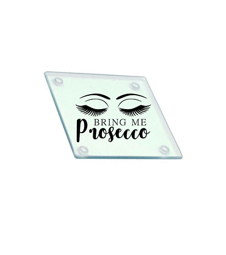 Bring me Prosecco Personalised Glass Coaster, Riva Gifts