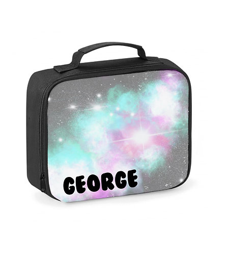 Lunch Box, Personalised, Unisex Kids, Galaxy, Lunch Cooler