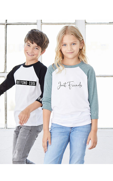 Beyond cool Baseball T and just friends baseball t