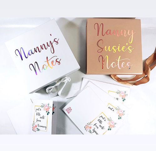 Personalised Card Set With Memory Box