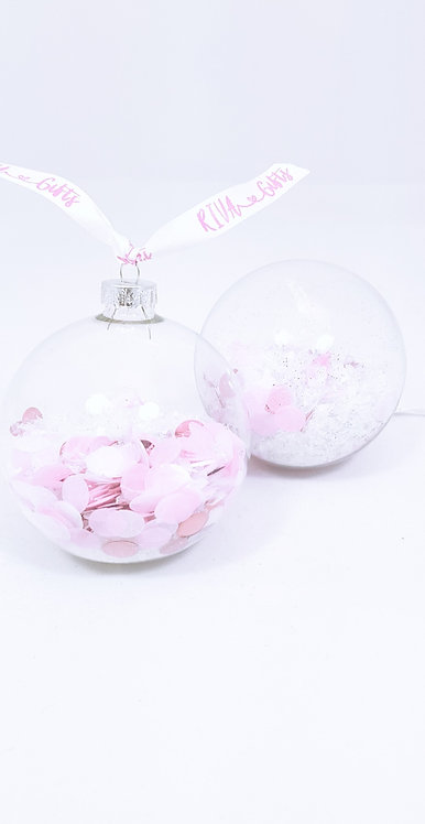 Confetti Glass Bauble,  Personalised