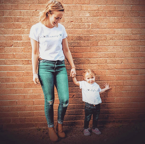Matching Mummy and Me T-shirts from RIVA Gifts Weston super mare