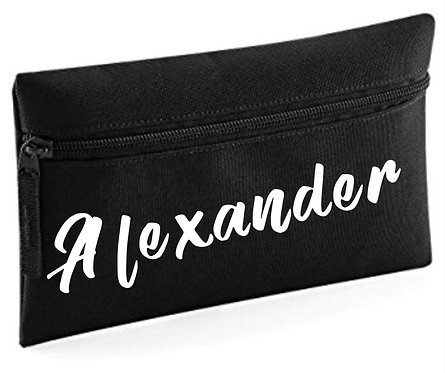 Pencil Case, Personalised black