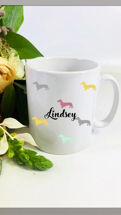 Hershie Mug, Choose Your Breed, Personalised