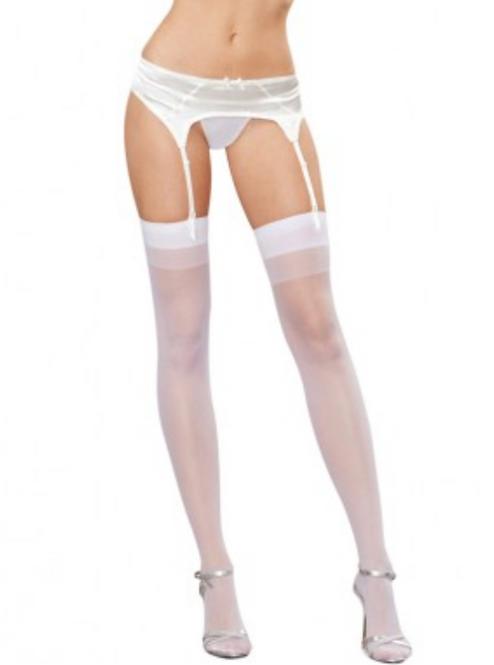 Too's Company - White Thigh High Stockings
