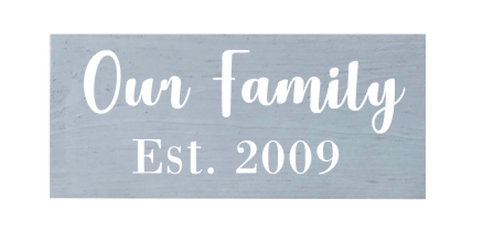 Wooden Family Sign Small