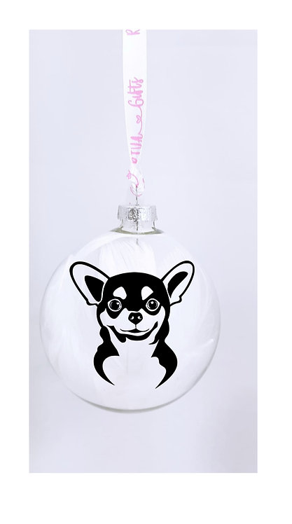 Chihuahua, Personalised Bauble, Pet Owner Gifts