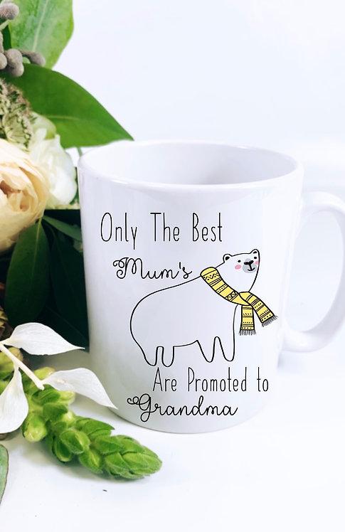 Promoted to Grandma Mug, Nanny, Polar Bear