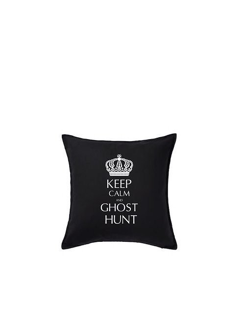 KEEP CALM AND GHOST HUNT Cushion Cover, Personalised Gift