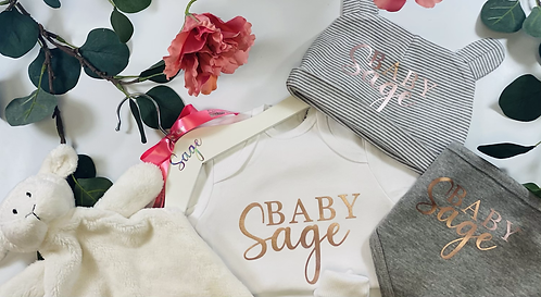 Girls Baby Filled Keepsake Box Gift, Personalised