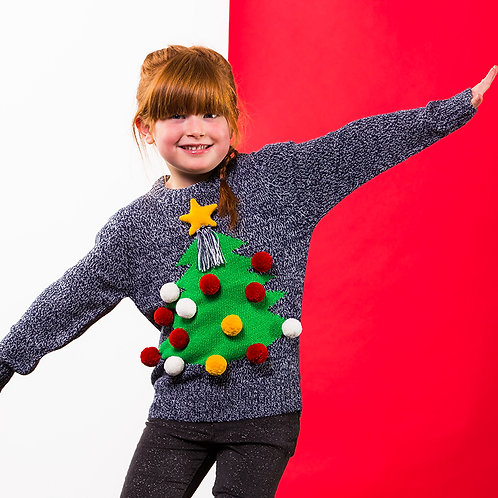 3D Kids Christmas jumper