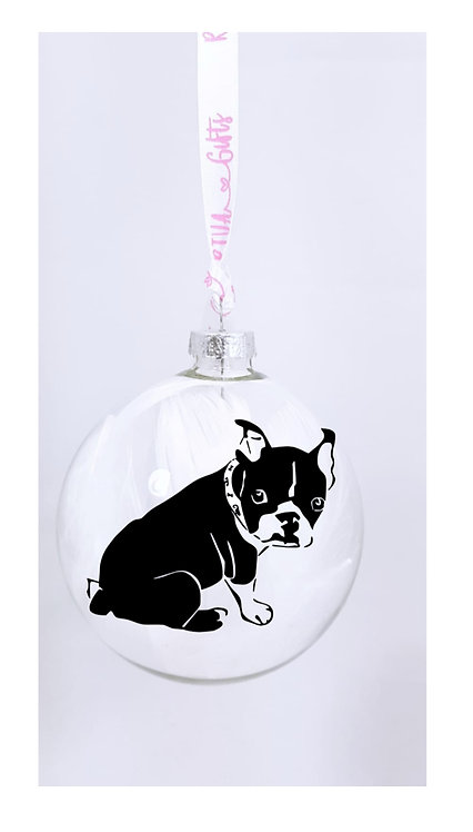 French Bulldog Personalised Bauble, Pet Owner Gifts, Gifts near me, riva gifts