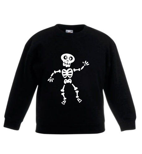 Personalised skeleton jumper, riva gifts, Halloween costume weston super mare