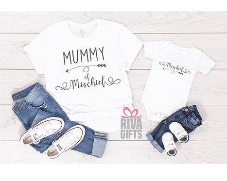 Matching Mummy of Mischief T-Shirt and Vest