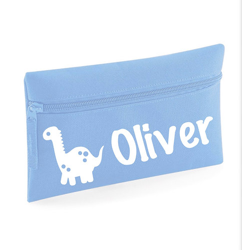 Pencil Case, Personalised blue