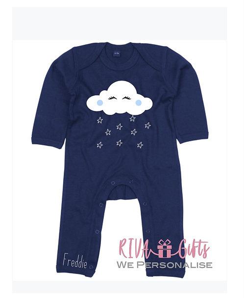 Baby Sleepsuit, Romper, Personalised BZ013