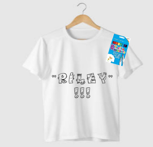 c2622f837 Unicorn Kids Colour Your Own Personalised T-Shirt