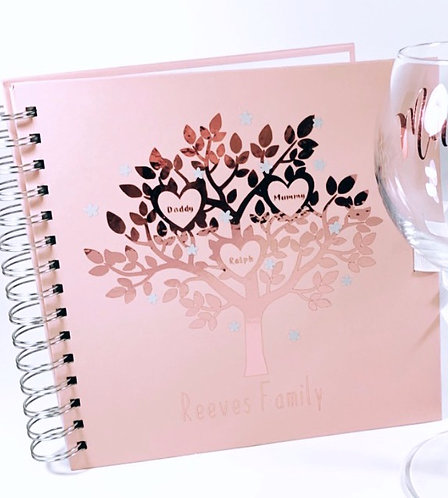 Personalised Family tree scrap book, Planner from RIVA Gifts