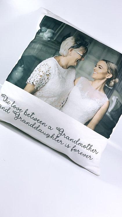Personalised Photo Cushion Cover, Wedding, new baby Family Cushion