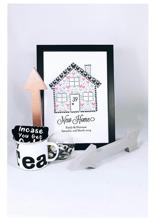 New Home personalised Print A4 from RIVA Gifts Weston super mare