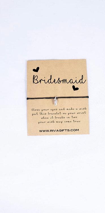 Wish bracelets for bridesmaids, handmade bridesmaid gifts, Weston super mare personalised gift shop, rivagifts