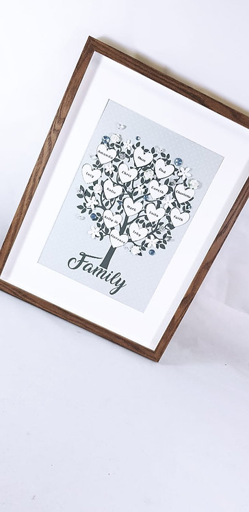 Family Tree Frame, Personalised 30 x 40 cm