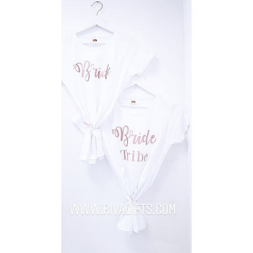 Bride and bridesmaids t-shirts