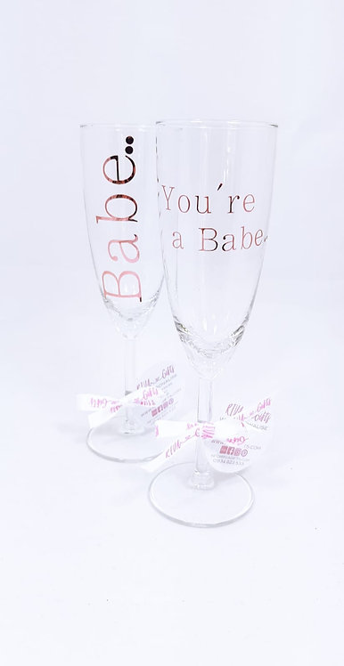 You're a babe, wine glass, riva gifts