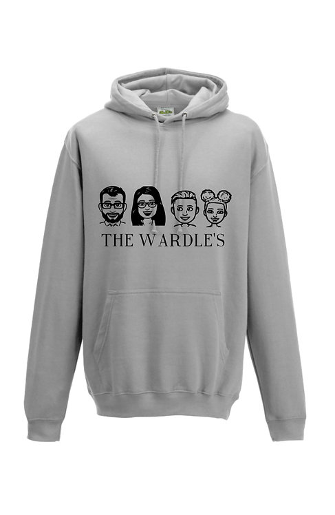 personalised caricature hoodie, riva gifts
