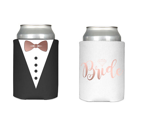 Wedding Can Cooler, Personalised Name