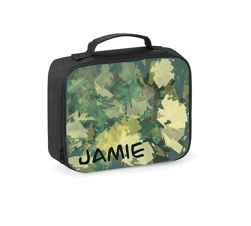 Lunch Box, Camo, Personalised Lunch Bag