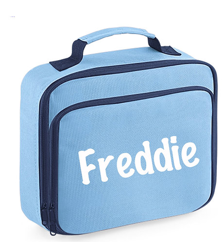 Lunch Box with name, blue