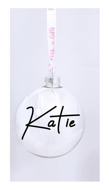 Personalised Bauble With Name, Christmas Gift for my granddaughter