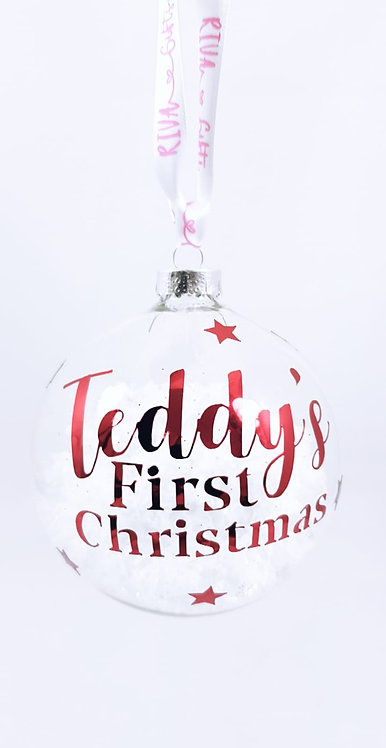 Baby's First Christmas bauble,  Personalised