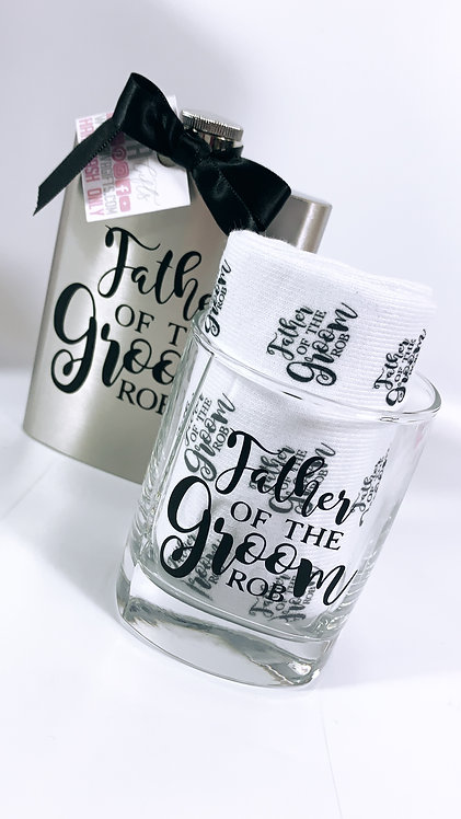 Father Wedding Gift Hip Flask, Personalised,